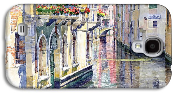 Midday Paintings Galaxy S4 Cases - Italy Venice Midday Galaxy S4 Case by Yuriy Shevchuk