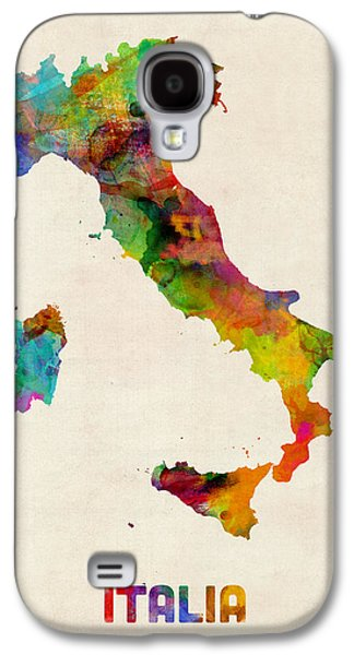 Map Galaxy S4 Cases - Italy Watercolor Map Italia Galaxy S4 Case by Michael Tompsett