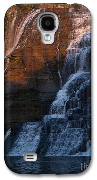 Ithaca Galaxy S4 Cases - Ithaca Falls in Autumn Galaxy S4 Case by Anna Lisa Yoder