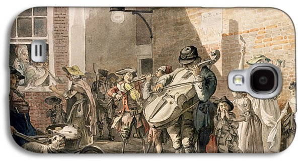 Itinerant Musicians Playing In A Poor Galaxy S4 Case by Paul Sandby