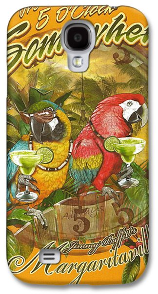 Fish Mixed Media Galaxy S4 Cases - Its 5 OClock Somewhere Galaxy S4 Case by Desiderata Gallery