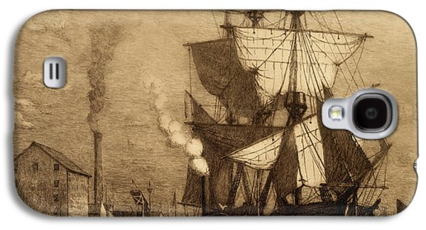 Historic Schooner Galaxy S4 Cases - Its 5 Oclock Somewhere Galaxy S4 Case by John Stephens
