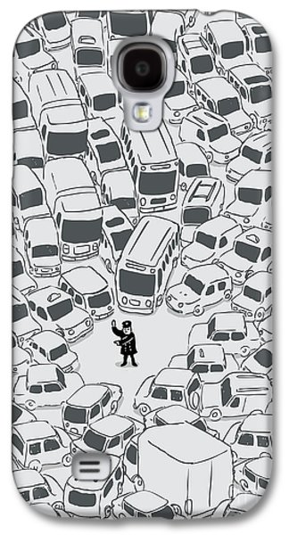 Police Galaxy S4 Cases - Its a jam mr police Galaxy S4 Case by Budi Satria Kwan