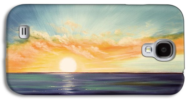 Sunset Posters Galaxy S4 Cases - Its a New Beginning Somewhere Else Galaxy S4 Case by Gina De Gorna