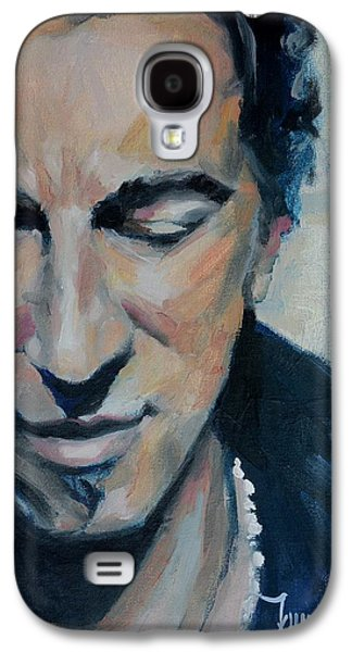 Bruce Springsteen Paintings Galaxy S4 Cases - Its Boss Time II - Bruce Springsteen Portrait Galaxy S4 Case by Khairzul MG