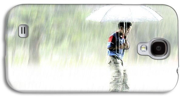 Person Galaxy S4 Cases - Its Raining Outside Galaxy S4 Case by Heiko Koehrer-Wagner