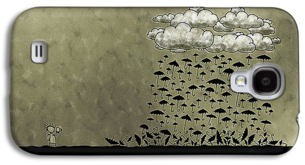 Animation Galaxy S4 Cases - Its Raining Umbrellas Galaxy S4 Case by Gianfranco Weiss