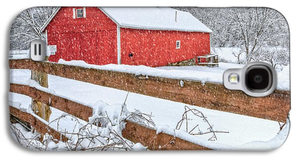 New England Snow Scene Galaxy S4 Cases - Its Snowing Galaxy S4 Case by Bill  Wakeley