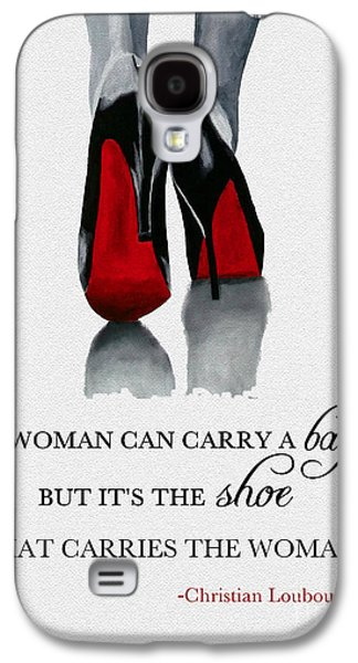 Original Mixed Media Galaxy S4 Cases - Its the Shoe that Carries the Woman Galaxy S4 Case by Rebecca Jenkins