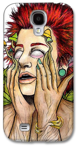 Trippy Drawings Galaxy S4 Cases - Its Trippy to be a Hippy Galaxy S4 Case by Amber Hepting