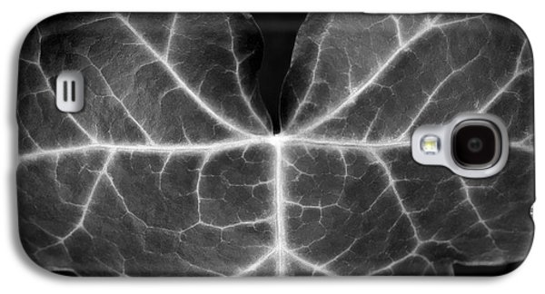 Monochromatic Digital Art Galaxy S4 Cases - Black And White Flowers Macro Photography Art Work Galaxy S4 Case by Artecco Fine Art Photography