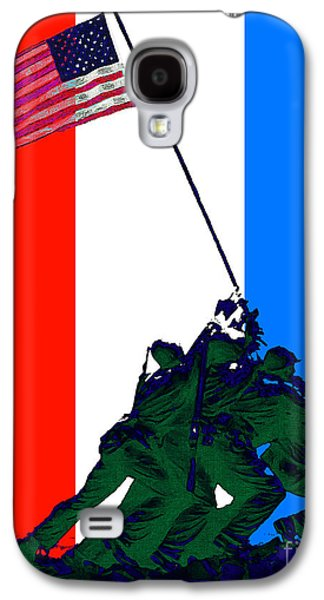 4th July Galaxy S4 Cases - Iwo Jima 20130210 Red White Blue Galaxy S4 Case by Wingsdomain Art and Photography