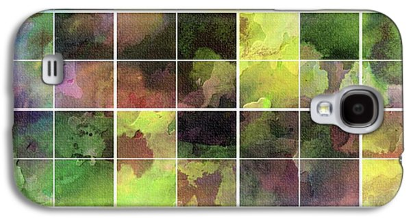 Digital Tapestries - Textiles Galaxy S4 Cases - Tiled Watercolor Blocks with Texture Galaxy S4 Case by Barbara Griffin