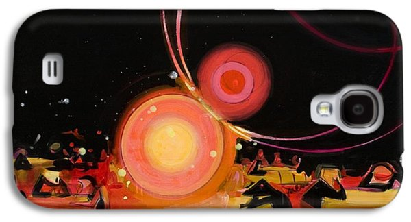 Drips Paintings Galaxy S4 Cases - Jabberwocky 2 Galaxy S4 Case by Susie Hamilton