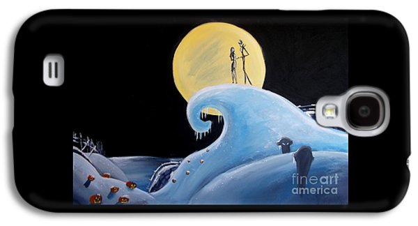 Recent Galaxy S4 Cases - Jack and Sally Snowy Hill Galaxy S4 Case by Marisela Mungia