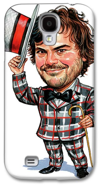 Person Galaxy S4 Cases - Jack Black Galaxy S4 Case by Art