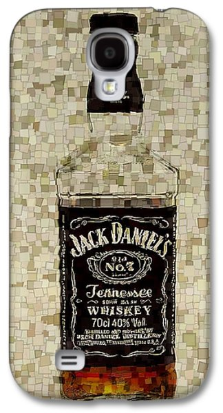 Owner Mixed Media Galaxy S4 Cases - Jack Daniels Cubism Galaxy S4 Case by Dan Sproul