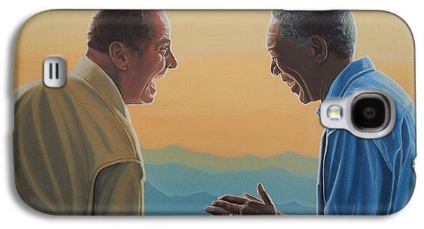 Jack Nicholson And Morgan Freeman Galaxy S4 Case by Paul Meijering