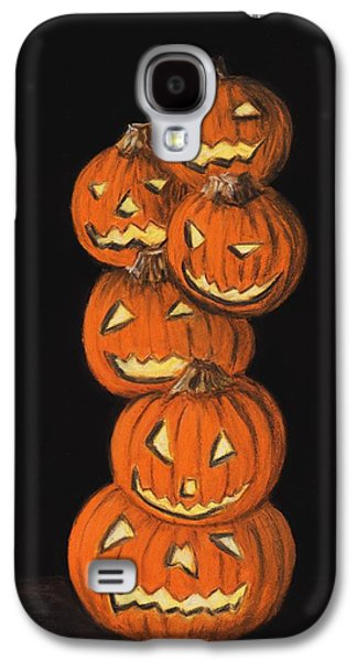 Light Pastels Galaxy S4 Cases - Jack-O-Lantern Galaxy S4 Case by Anastasiya Malakhova