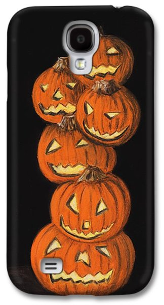 Orange Pastels Galaxy S4 Cases - Jack-O-Lantern Galaxy S4 Case by Anastasiya Malakhova