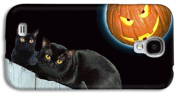 Jacko Galaxy S4 Cases - Jack O Lantern Moon Galaxy S4 Case by Bruce Iorio