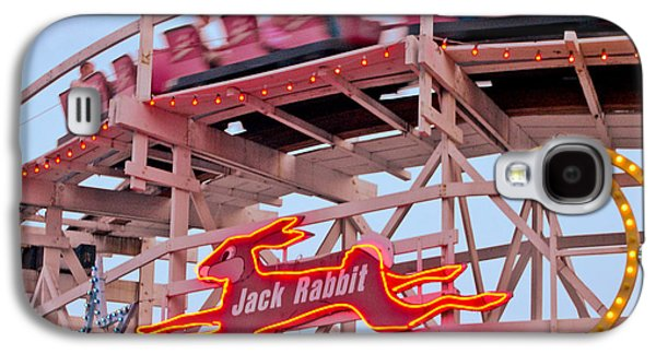 Signed Digital Art Galaxy S4 Cases - Jack Rabbit Coaster Kennywood Park Galaxy S4 Case by Jim Zahniser