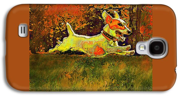 Best Sellers -  - Puppy Digital Galaxy S4 Cases - Jack Russell In Autumn Galaxy S4 Case by Jane Schnetlage