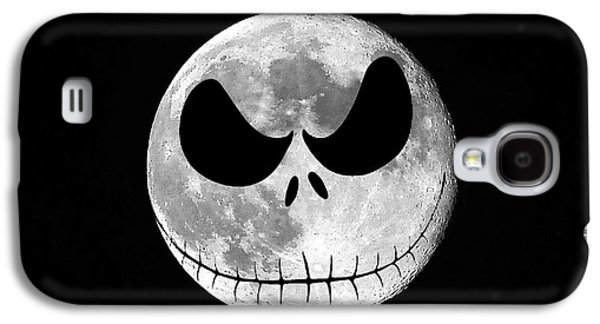 Moonscape Galaxy S4 Cases - Jack Skellington Moon Galaxy S4 Case by Al Powell Photography USA