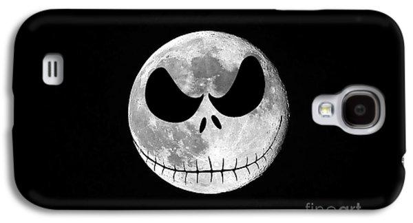 Nightmare Digital Art Galaxy S4 Cases - Jack Skellington Moon Galaxy S4 Case by Al Powell Photography USA