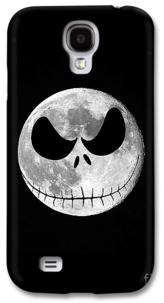 Moonscape Galaxy S4 Cases - Jack Skellington Moon Vertical Galaxy S4 Case by Al Powell Photography USA