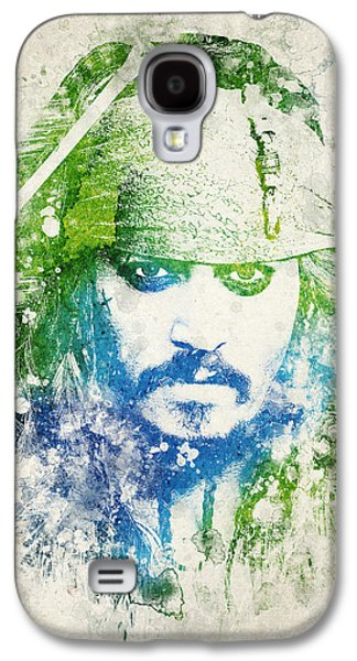 Celebrities Digital Art Galaxy S4 Cases - Jack Sparrow Galaxy S4 Case by Aged Pixel