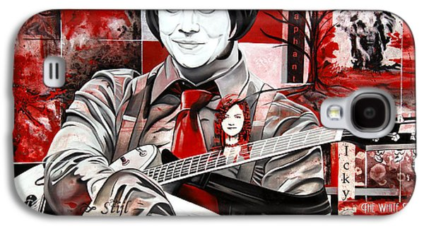Stripes Paintings Galaxy S4 Cases - Jack White Galaxy S4 Case by Joshua Morton
