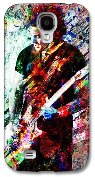 Rock N Roll Paintings Galaxy S4 Cases - Jack White Original Painting Print Galaxy S4 Case by Ryan RockChromatic