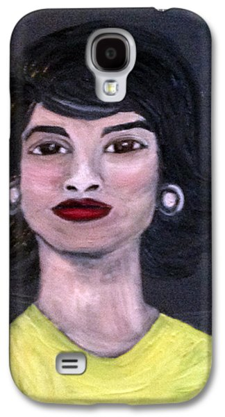 First Lady Paintings Galaxy S4 Cases - Jackie Kennedy Galaxy S4 Case by Deb Wolf