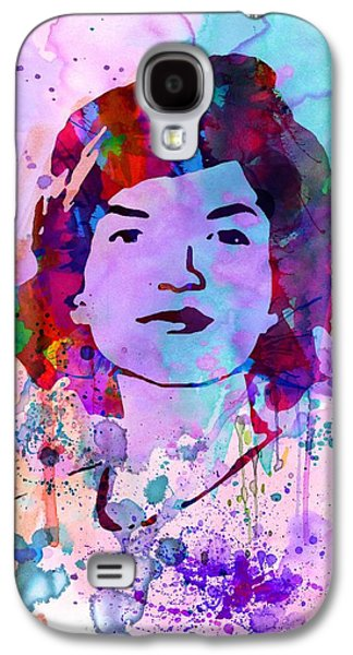 Civil Rights Galaxy S4 Cases - Jackie Kennedy Watercolor Galaxy S4 Case by Naxart Studio