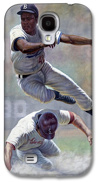 African-american Galaxy S4 Cases - Jackie Robinson Galaxy S4 Case by Gregory Perillo