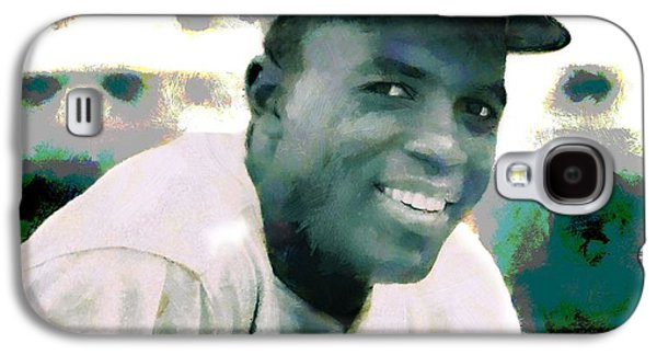 Segregation Mixed Media Galaxy S4 Cases - Jackie Robinson Poster Galaxy S4 Case by Dan Sproul