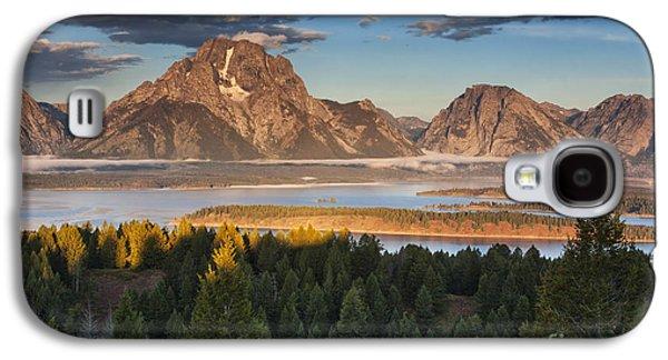 Beauty Mark Galaxy S4 Cases - Jackson Lake Morning Galaxy S4 Case by Mark Kiver