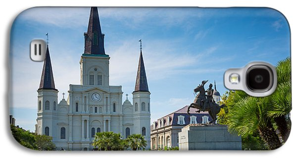 Louisiana Photographs Galaxy S4 Cases - Jackson Square Galaxy S4 Case by Inge Johnsson