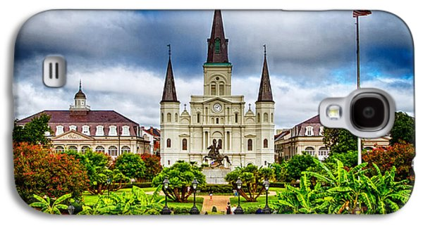 Orleans Photographs Galaxy S4 Cases - Jackson Square New Orleans Galaxy S4 Case by Jarrod Erbe