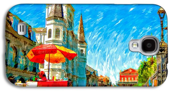 Lucky Dogs Galaxy S4 Cases - Jackson Square painted version Galaxy S4 Case by Steve Harrington