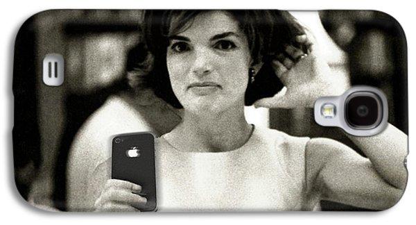 First Lady Galaxy S4 Cases - Jacky Kennedy Takes A Selfie Galaxy S4 Case by Tony Rubino