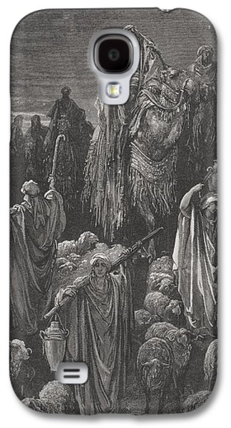 Holy Drawings Galaxy S4 Cases - Jacob Goeth Into Egypt Galaxy S4 Case by Gustave Dore