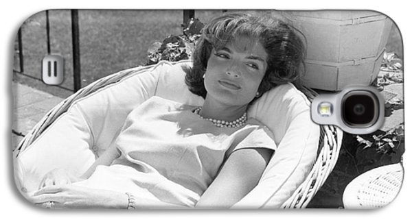 First-lady Galaxy S4 Cases - Jacqueline Kennedy relaxing at Hyannis Port 1959. Galaxy S4 Case by The Phillip Harrington Collection