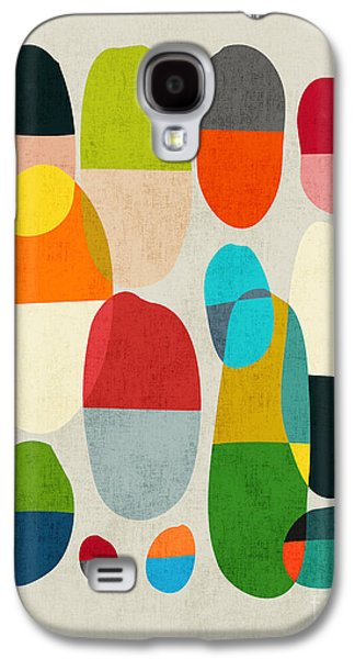 Colorful Abstract Digital Galaxy S4 Cases - Jagged little pills Galaxy S4 Case by Budi Kwan
