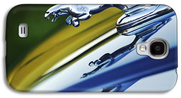 Car Abstract Photographs Galaxy S4 Cases - Jaguar Car Hood Ornament Galaxy S4 Case by Jill Reger