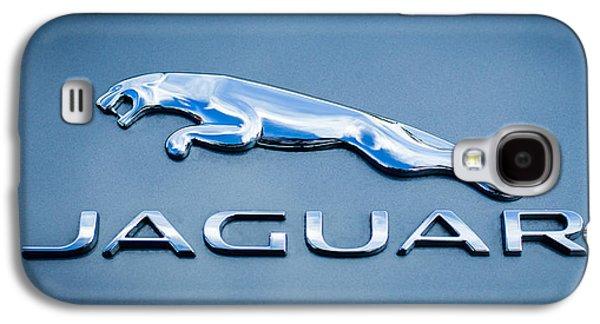 Transportation Photographs Galaxy S4 Cases - Jaguar F Type Emblem Galaxy S4 Case by Jill Reger