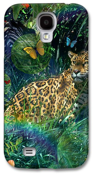 Alixandra Mullins Galaxy S4 Cases - Jaguar Meadow Galaxy S4 Case by Alixandra Mullins