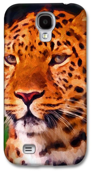 Preditor Galaxy S4 Cases - Jaguar Galaxy S4 Case by Michael Pickett