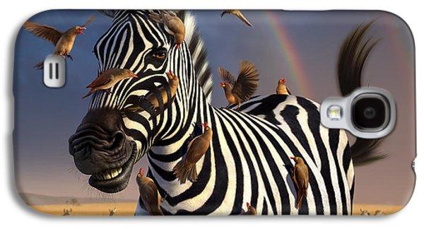 Zebra Digital Art Galaxy S4 Cases - Jailbird Galaxy S4 Case by Jerry LoFaro